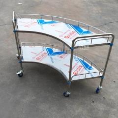 不锈钢扇型器械台 小推车 1200长*460宽*865高mm(小)